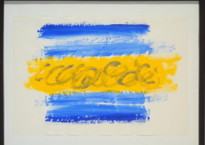 Untitled (Cobalt & Yellow)