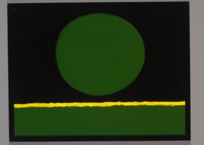 Untitled (Green Ball Over Yellow Stripe)