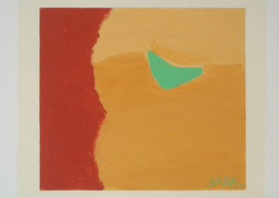 Untitled (Green Boomerang)