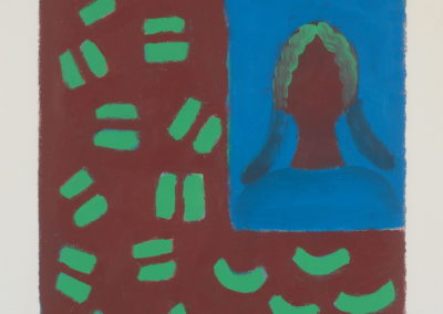 Untitled (Green Haired Girl in Blue)