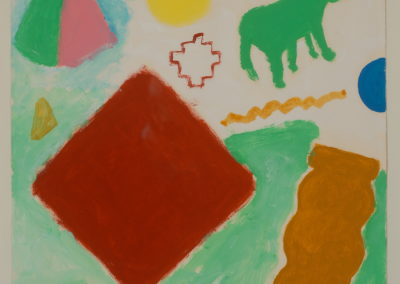 Untitled (Green Pony with Blue Giant's Jawbone)