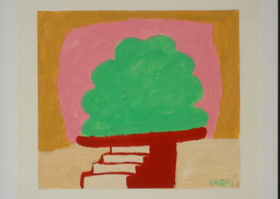 Untitled (Green Shrub on Red Steps)