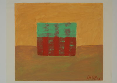 Untitled (Green and Red Striped Block)