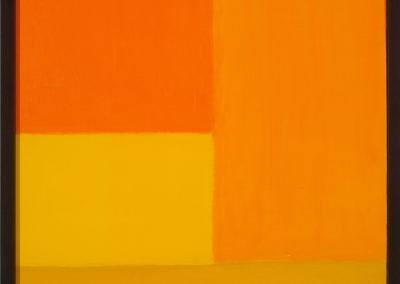 Untitled (Patchwork Fields Orange and Yellow)