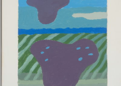 Untitled (Purple Cloud Over Purple Pond)
