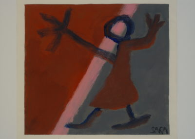 Untitled (Skating Woman in Brown Dress)