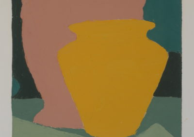 Untitled (Still Life Yellow Vase with Clay)