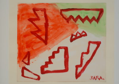 Untitled (Symbol 3 Red Stair Forms)