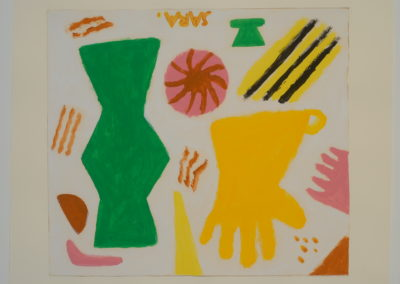 Untitled (Symbols 7 Yellow Glove with Green Dress)