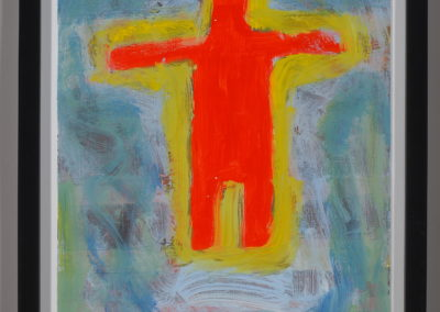 Untitled (Yellow Aura on Red Man)